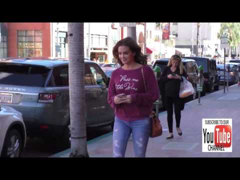 Jillian Murray talks about what she wants for Christmas while shopping in Beverly Hills