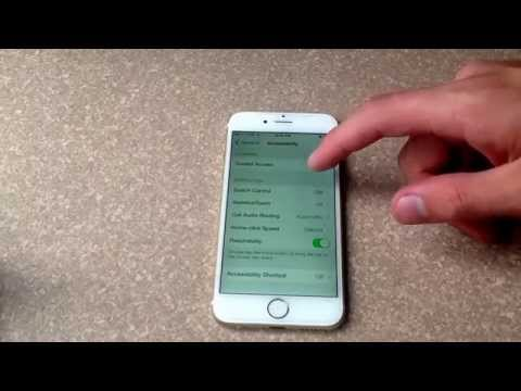 iPhone 6 / iPhone 6 plus - how to turn off front screen motion