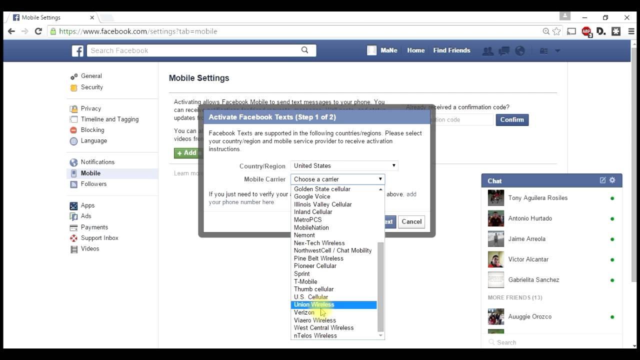 Eliminar y cambiar n mero de celular en facebook interfaz - Cambiar una casa por otra ...