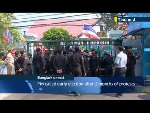 Thailand Protesters Oppose Election: Anti-government protesters force polling station closure