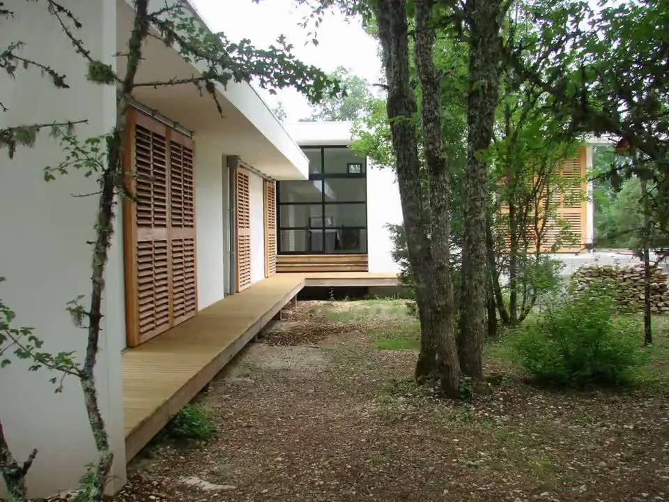 Maison d 39 architecte contemporaine youtube - Maison d architecte bois ...