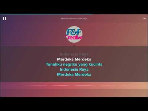 Karaoke Indonesia Raya ++ Lirik (No Vocal)
