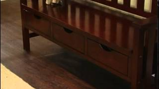Raven Storage Bench Wenge Dark Wood - Product Review Video
