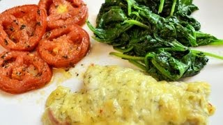 Pepperjack Chicken Meal With Tomatoes & Sauteed Spinach (easy Dinner Idea!) - Cookwitapril