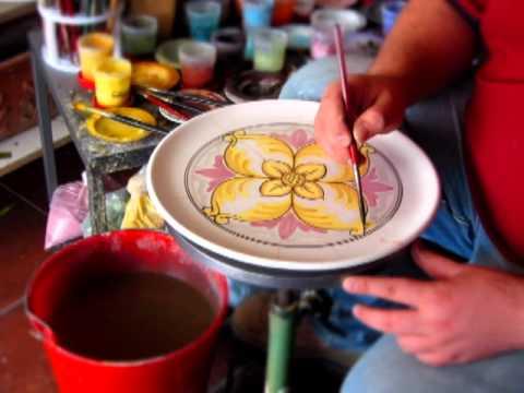 decorazione ceramica decorazione di un piatto youtube