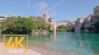 Mostar, Bosnia and Herzegovina - Walking Tour in 4K 60fps