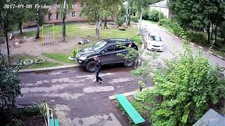 Установка видеонаблюдения во дворе