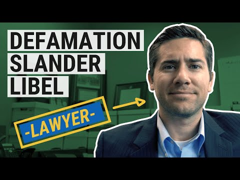 Defamation, Slander & Libel Explained by an Employment Lawyer
