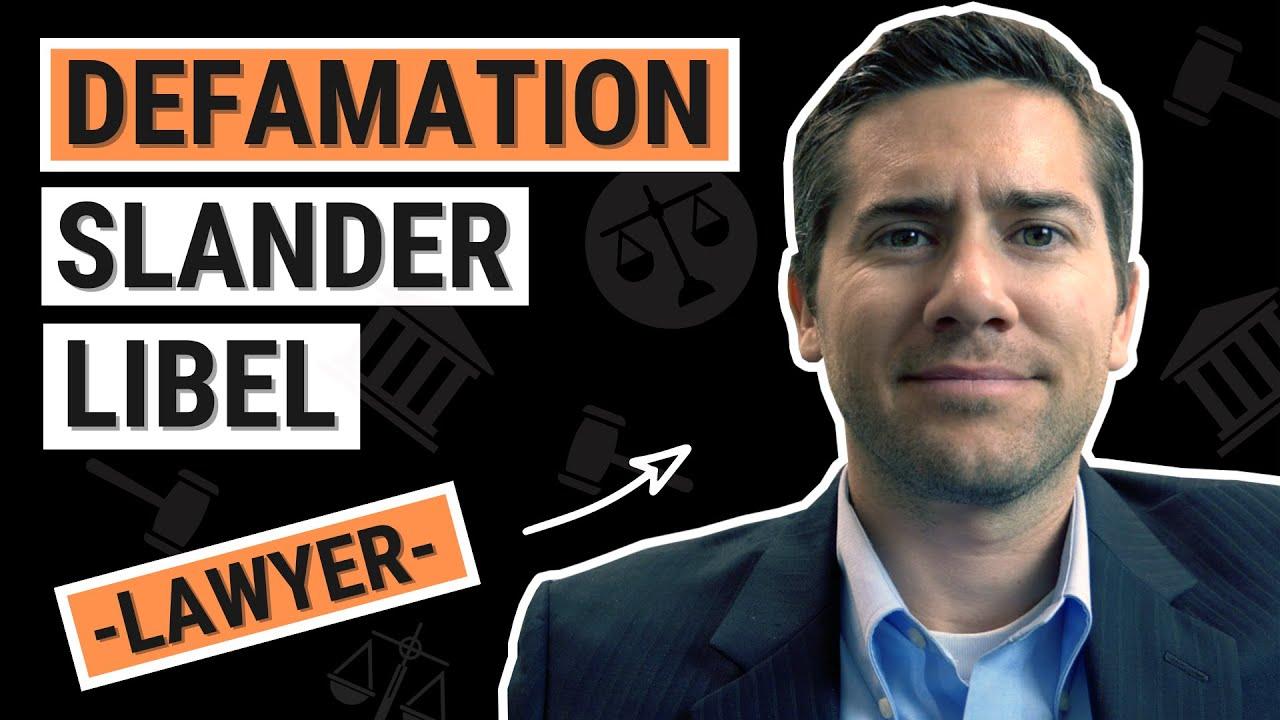 Defamation Slander & Libel Explained by a California Employment Lawyer