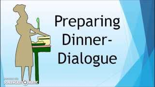 Learn English Phrasal Verbs -Preparing Dinner Dialogue