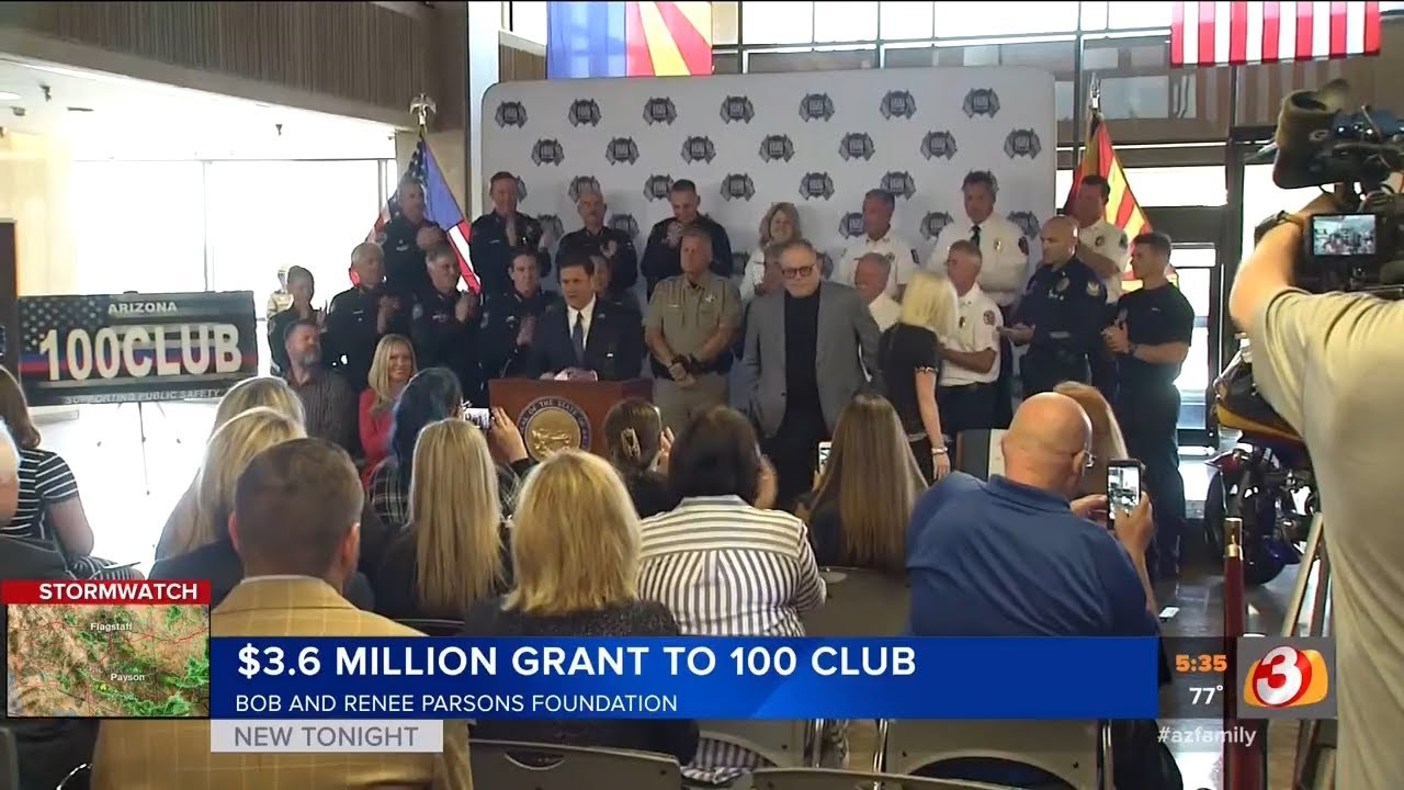 3TV: $3 6 Million Grant To 100 Club From Bob and Renee