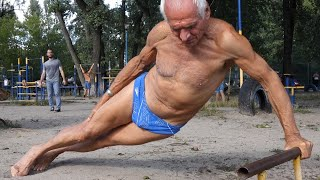 Amazing 75 Year Old Man - workout motivation 50+ | IRON LAND