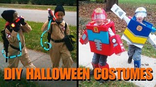 DIY Rescue Bots and Ghostbusters Halloween Costumes - Spiders and Knights Too!