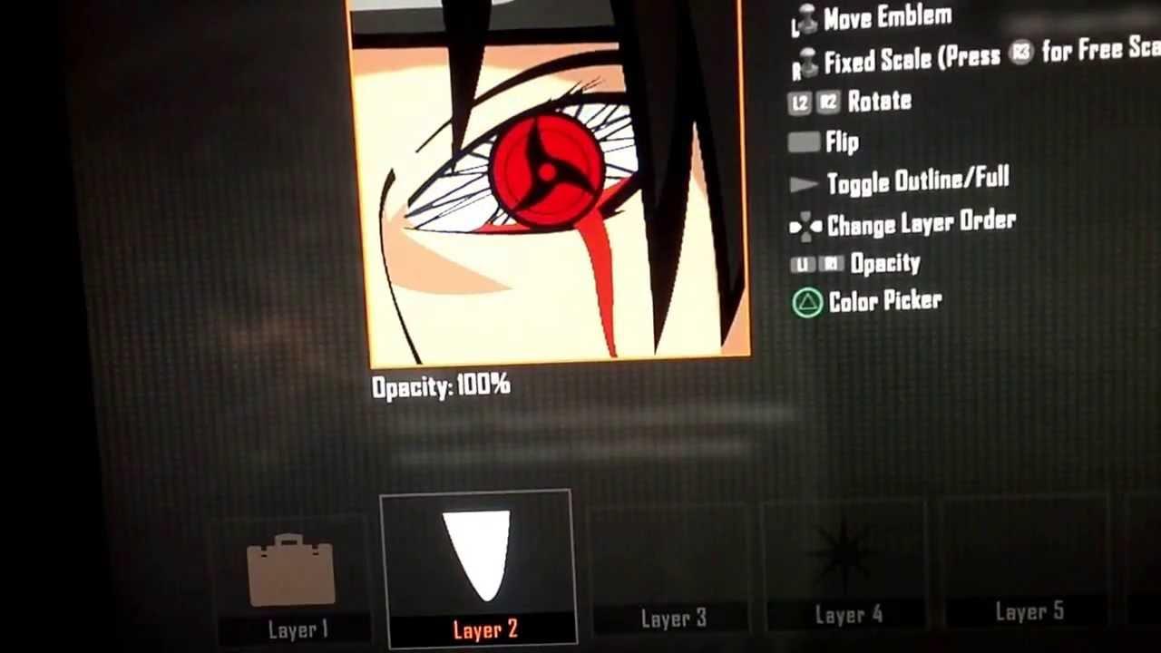 Black Ops 2 Itachi Mangekyou Sharingan Amaterasu Tutorial