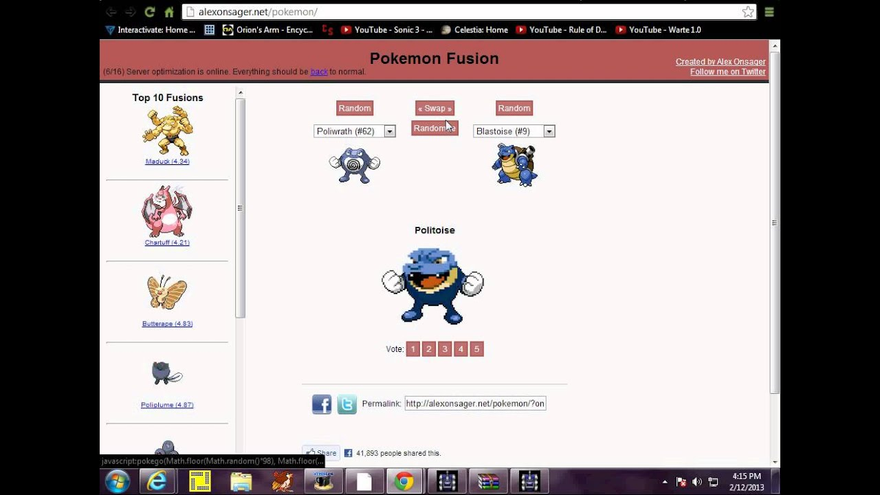Pokemon Fusion Generator Youtube