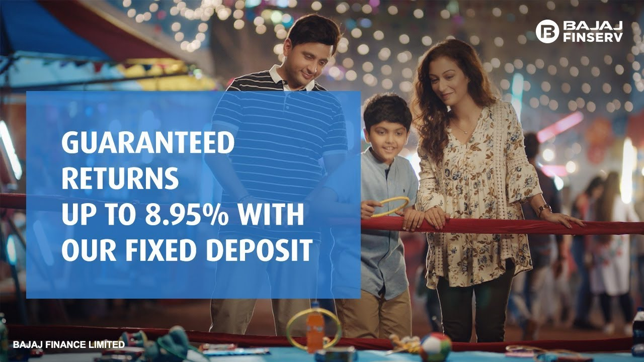 Guaranteed Returns Up to 8.95% With Bajaj Finance Fixed Deposit
