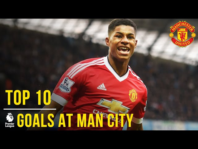 Manchester United's Top 10 Premier League Goals At Man City | Manchester United