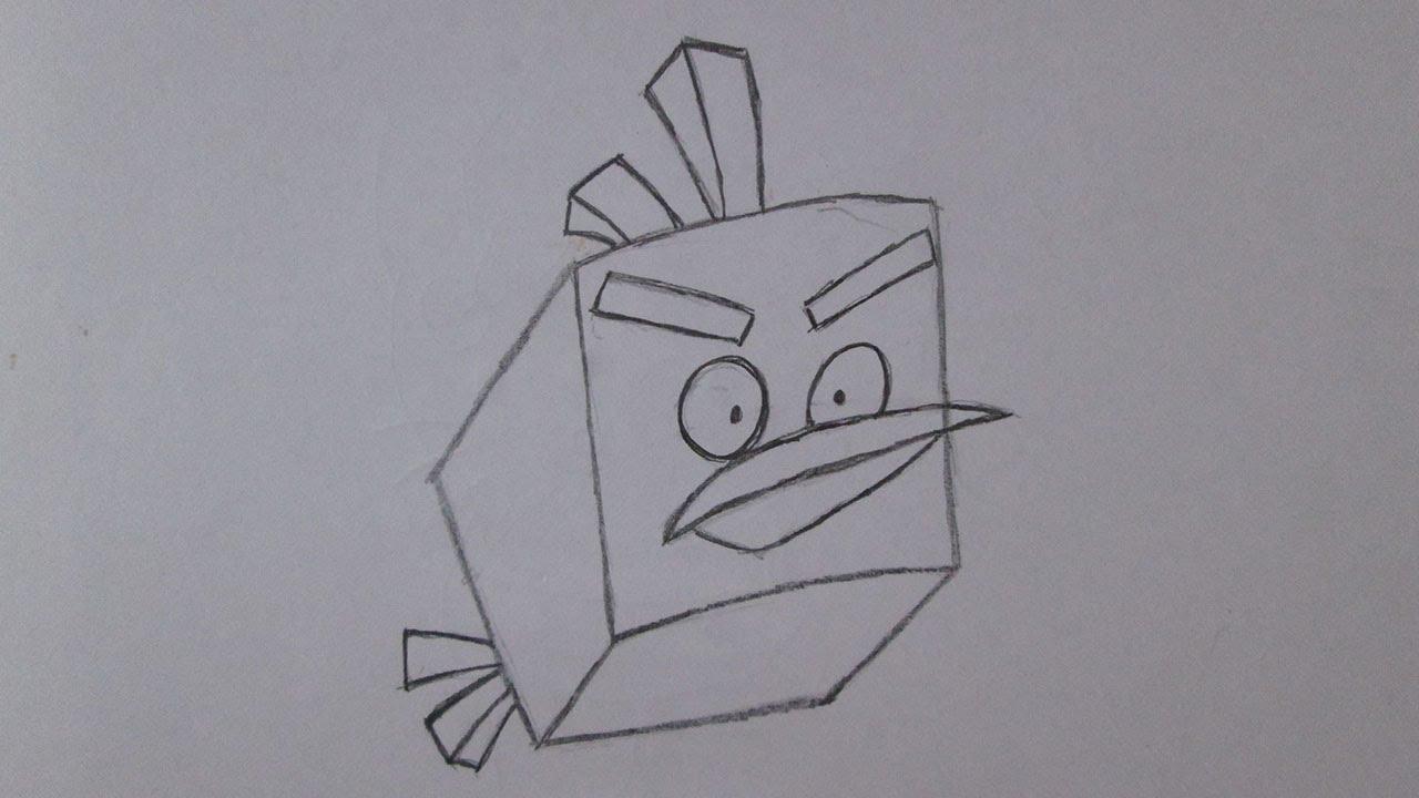Como Desenhar O Ice Bird De Angry Birds Space Youtube