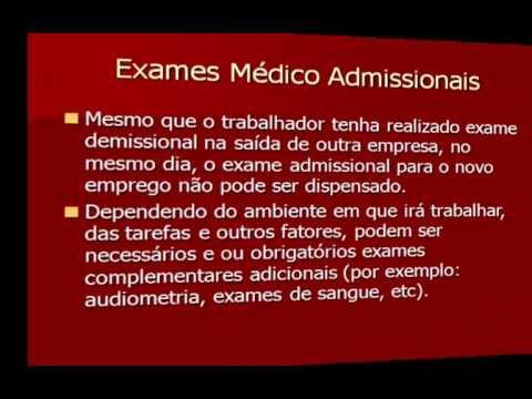 Exame médico admissional