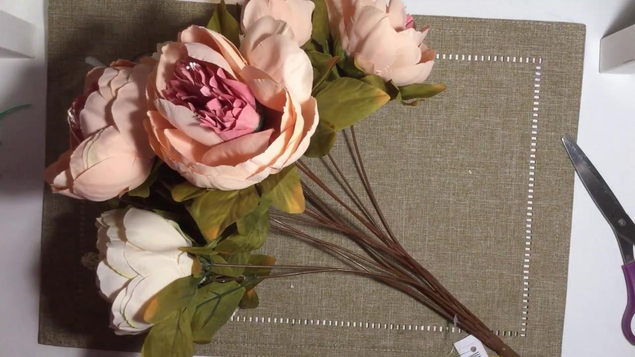 vintage silk peony flower bouquet vintage silk peony flower bouquet izmirmasajfo