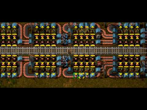 Factorio - Most Compact Belt-, Lane-, and (almost) Load-Balanced Train Unloader (to my knowledge)