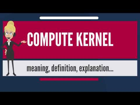 What is COMPUTE KERNEL? What does COMPUTE KERNEL mean? COMPUTE KERNEL meaning & explanation