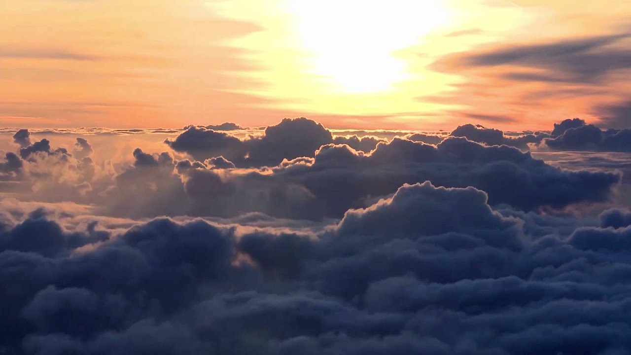 sunrise above the clouds timelapse youtube