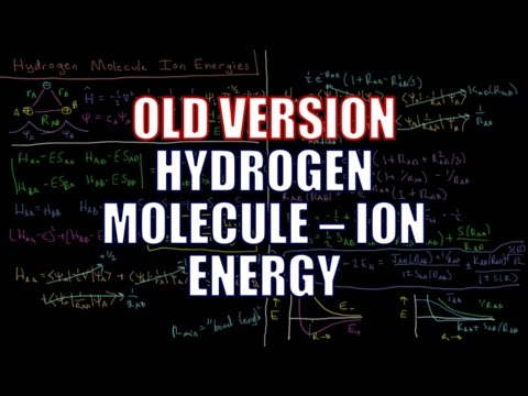Quantum Chemistry 10.3 - Hydrogen Molecule-Ion 1: Energy (Old Version)