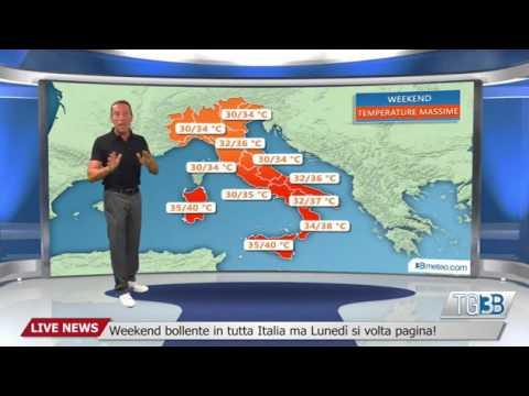 Weekend bollente in tutta Italia ma Lunedi si volta pagina