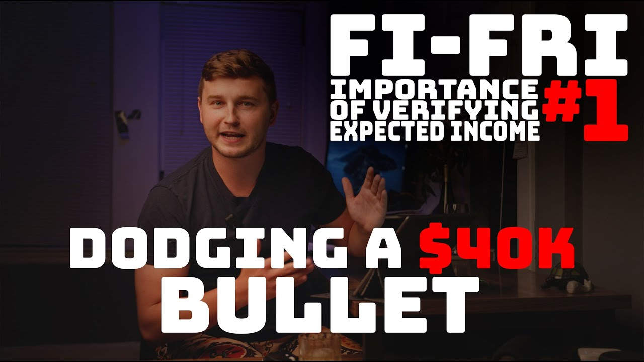 FINANCIAL FRIDAY #1: How we dodged a $40k Bullet