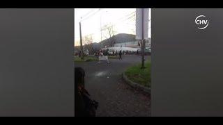 Disturbios se produjeron luego de trasladado de cuerpos en Temuco - CHV NOTICIAS