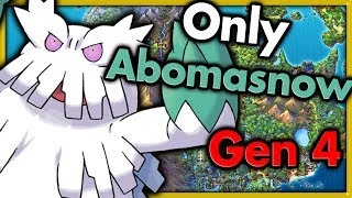 Can I Beat Pokemon Platinum with ONLY One Abomasnow? 🔴 Pokemon Challenges ► NO ITEMS IN BATTLE
