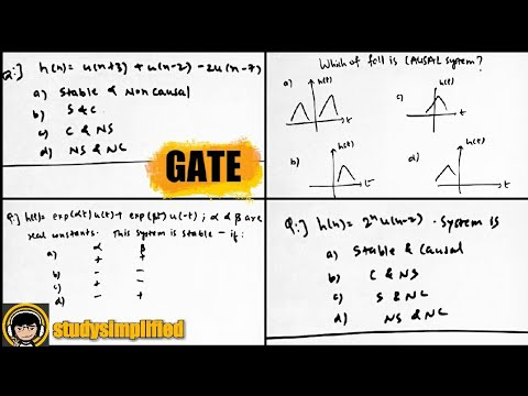GATE questions on signals and systems with answers