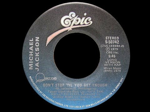 Michael Jackson ~ Don't Stop Til You Get Enough 1979 Disco Purrfection Version