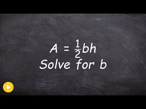 Solving literal equations made easy