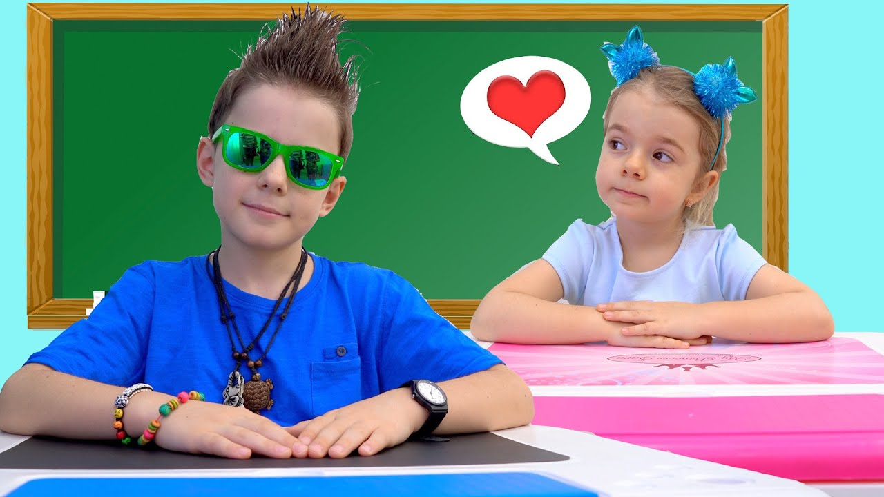 Download Bogdan and Anabella play at school    Children Sad Love Story