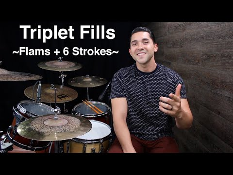 Triplet Fills With Flams & 6 Strokes- Fill Development Lesson With Eric Fisher