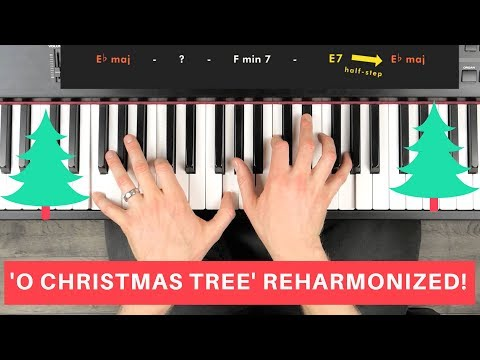 🌲 JAZZ PIANO CHRISTMAS TUTORIAL 🌲 (O Christmas Tree Reharmonized)