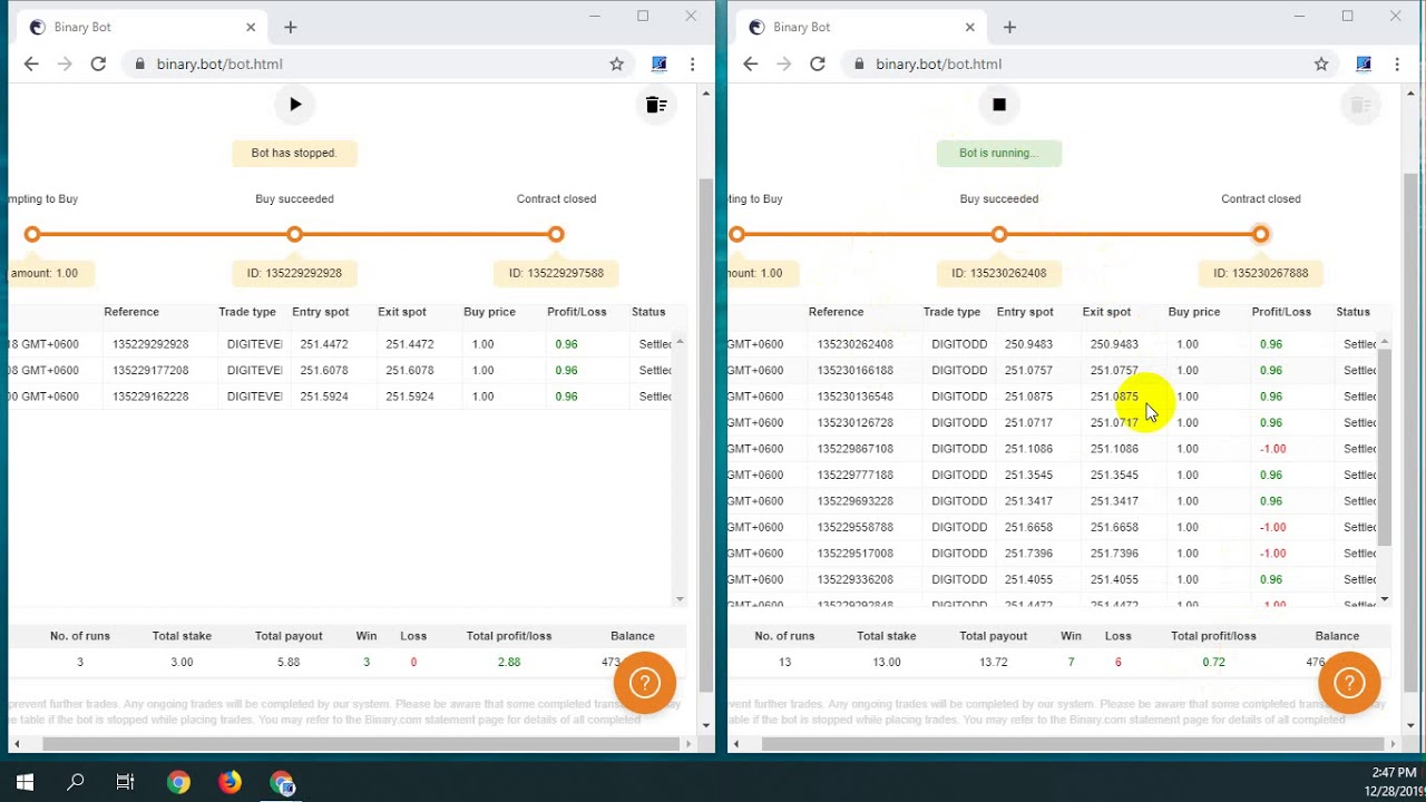 Risk Free Bot and Confirm Earning with Binary Option ...