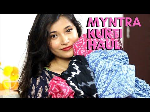 Myntra Office Wear Kurti Haul | Akriti Ranjan