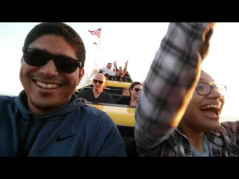 Sister first time at Santa Monica Pier Rollercoaster !!!!
