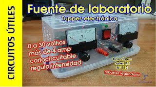Circuitos Útiles. 05. Fuente de alimentación 30V 4A #TupperElectrónica