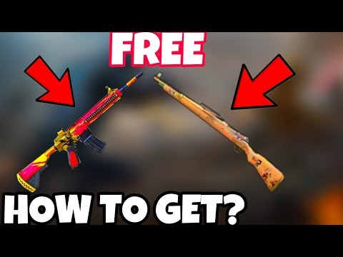 HOW TO GET FREE GUN SKINS IN PUBG MOBILE - GET FREE GUN SKINS IN PUBG MOBILE