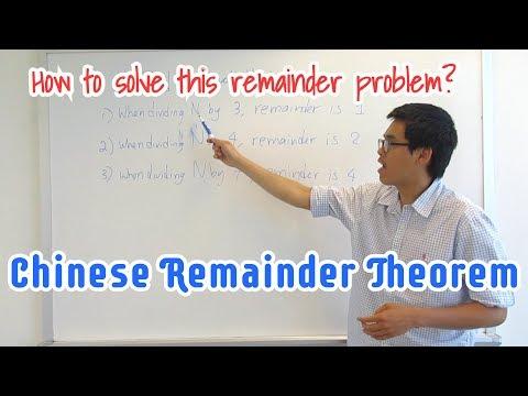 How To Solve A Remainder Problem    Chinese Remainder Theorem Algorithm