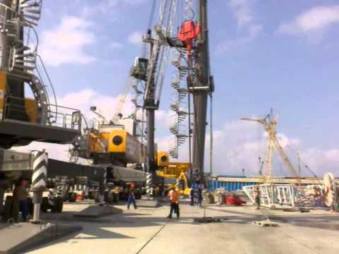 Как собирают портовый мобильный кран Liebherr
