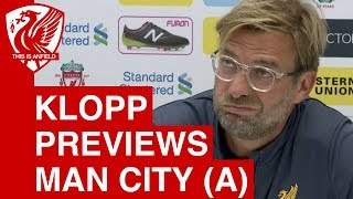 man city vs liverpool jurgen klopp pre match press conference