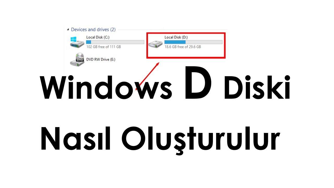 Windows 10 PROGRAMSIZ Disk Birleştirme, Disk Bölme, BİRİMİ GENİŞLET HATASI çözümü