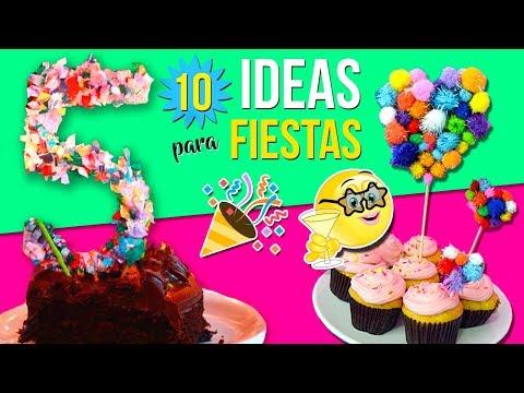 10 IDEAS para FIESTAS INFANTILES * Decoraciones FÁCILES, Rápidas y Económicas (I)