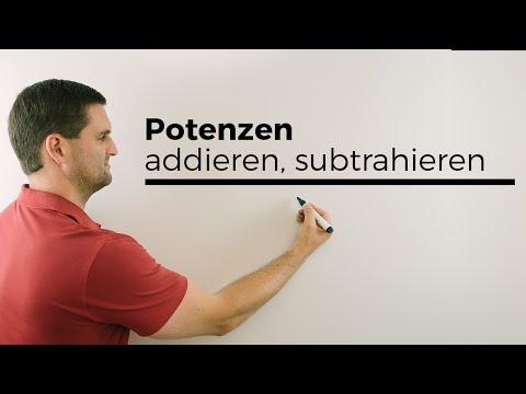 Potenzen addieren und subtrahieren | Mathe by Daniel Jung from YouTube · Duration:  2 minutes 44 seconds