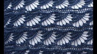 "Узор спицами  ""Ракушки"" Shell pattern"